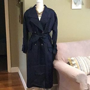 Gallery - Navy Trench Coat
